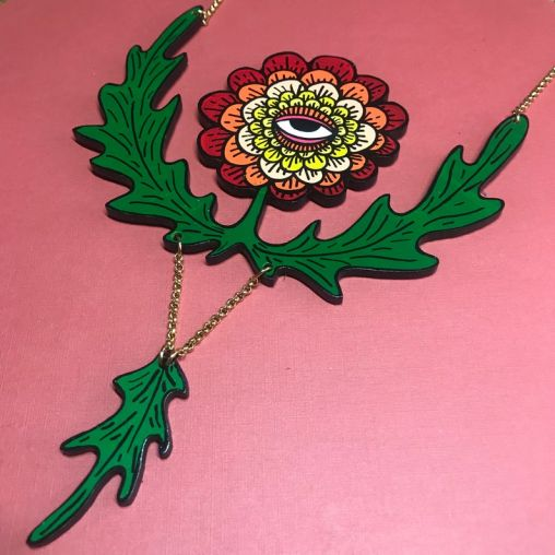 Red FlowerNecklace
